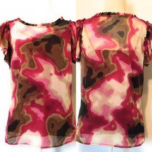 Worthington blouse, Sz medium, short sleeve